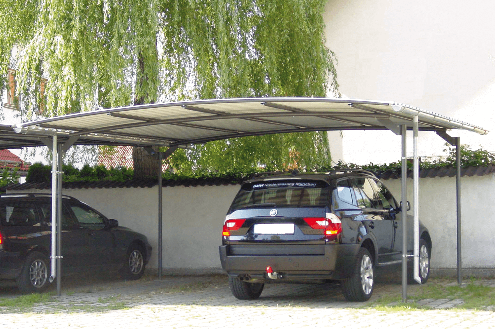 carport blechdach gartenhaus mit dachbernung with carport blechdach carport in flacht with. Black Bedroom Furniture Sets. Home Design Ideas