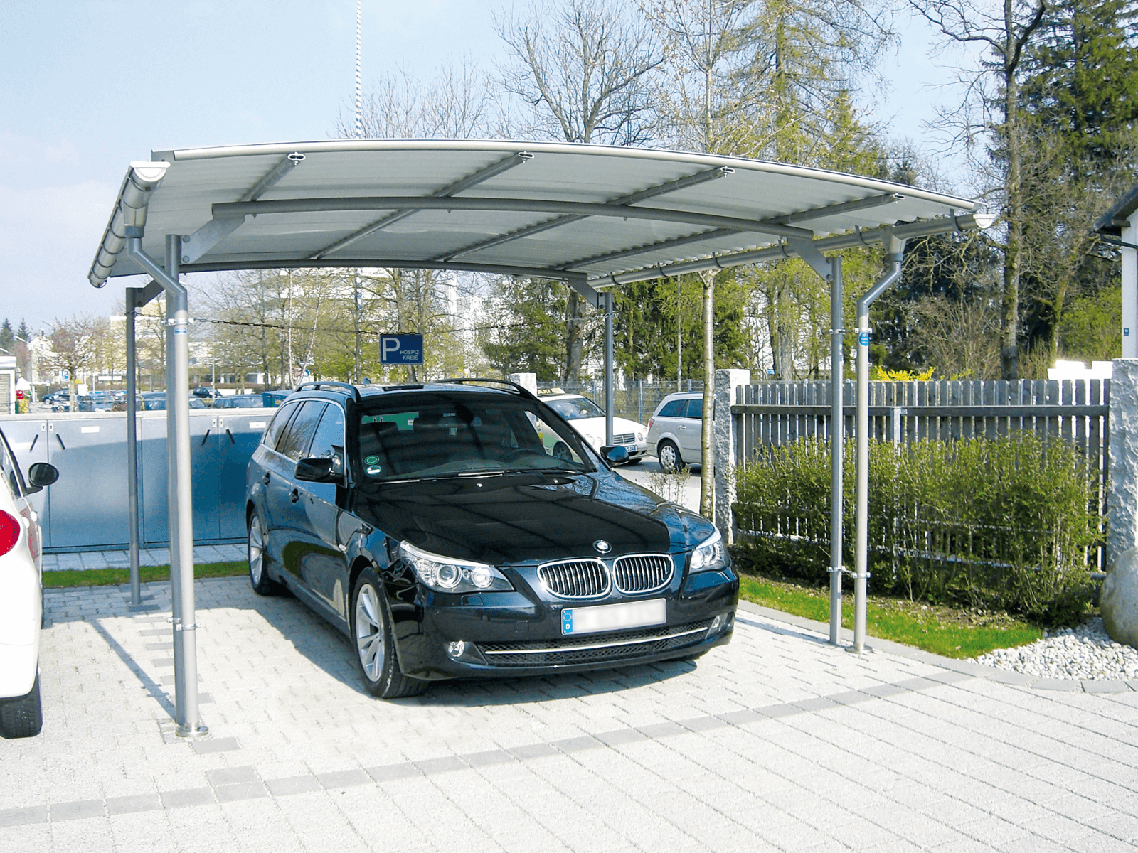 carport bwa bausystemcarport carport gronard fahrradst nder berdachungen stadtmobiliar. Black Bedroom Furniture Sets. Home Design Ideas