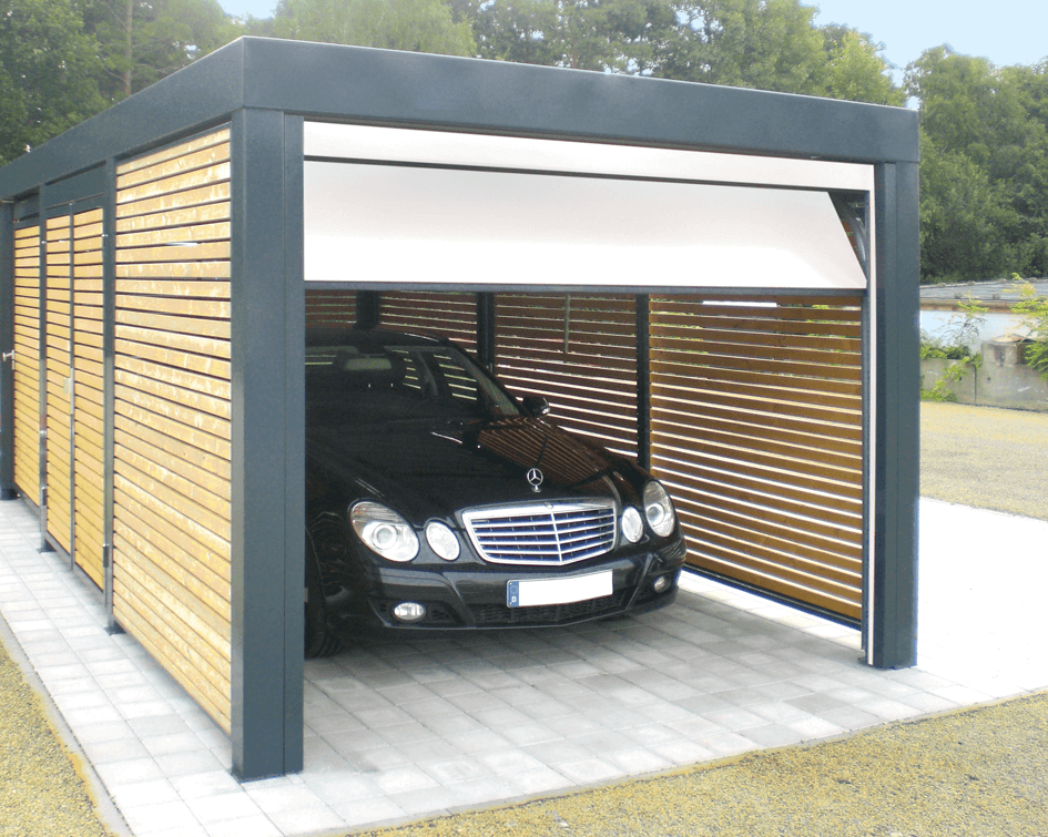 carport mit sektionaltor siebau carport mit sektionaltor siebau raumsysteme galerie carports. Black Bedroom Furniture Sets. Home Design Ideas